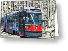 Humber Bound Streetcar On Queen Street Greeting Card