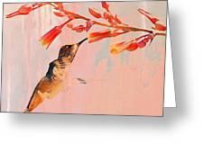 Hummer Art Greeting Card