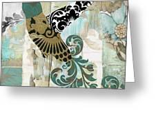 Hummingbird Batik Greeting Card