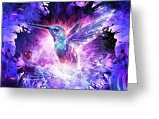 Hummingbird Love Greeting Card