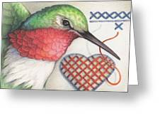 Hummingbird Handiwork Greeting Card