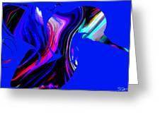 Hummingbird In The Blue. Greeting Card