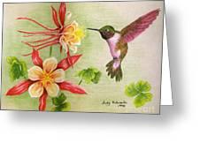 Hummingbird's Delight Greeting Card