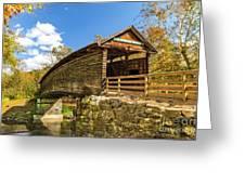 Humpback Covered Bridge In Autumn Colors Greeting Card