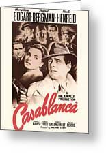 Humphrey Bogard And Ingrid Bergman In Casablanca 1942 Greeting Card
