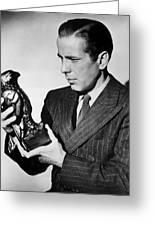 Humphrey Bogart Holding Falcon The Maltese Falcon 1941  Greeting Card