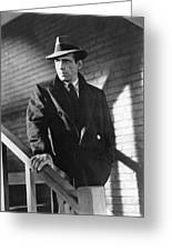 Humphrey Bogart Stairs The Maltese Facon 1941  Greeting Card