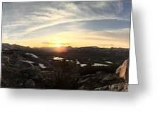 Humphreys Basin Sunset Greeting Card