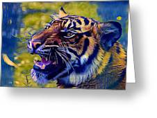 Portrait Of A  Tiger Greeting Card