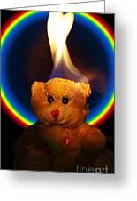 Hunk Of Burning Love Greeting Card