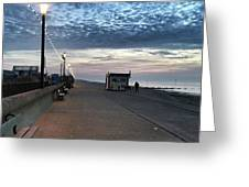 Hunstanton At 5pm Today  #sea #beach Greeting Card