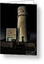 Hunstanton Lighthouse At Night Greeting Card