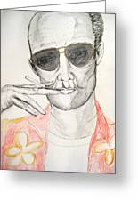 Hunter S. Thompson Greeting Card