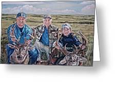 Hunters -  Three Generations Greeting Card