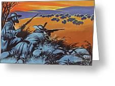 Hunting Buffalo In America Greeting Card