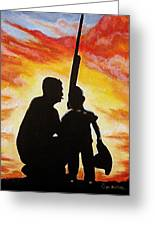 Hunting With My Dad Greeting Card by Al  Molina