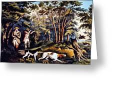 Hunting: Woodcock, 1852 Greeting Card