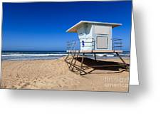Huntington Beach Lifeguard Tower Photo Greeting Card by Paul Velgos