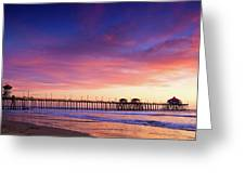 Huntington Beach Pier Sunset  Greeting Card