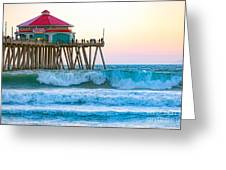 Huntington Pier Greeting Card