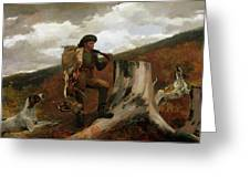 A Huntsman And Dogs Greeting Card