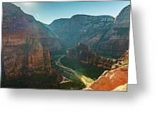 Hurricane Canyon In Utah Usa Greeting Card