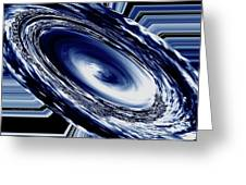 Hurricane In Space Abstract Greeting Card