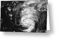 Hurricane Irma Infrared Greeting Card
