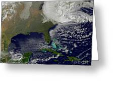 Hurricane Sandy Battering The United Greeting Card