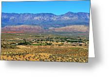 Hurricane Utah And Red Cliffs Nca Greeting Card
