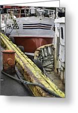Husavik Boats Iceland 3741 Greeting Card