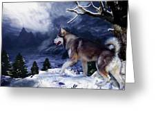 Husky - Mountain Spirit Greeting Card