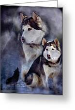 Husky - Night Spirit Greeting Card