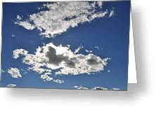 Huson River Clouds 1 Greeting Card