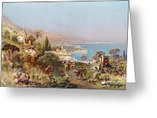 Hustle And Bustle In A Southern Harbour City Greeting Card