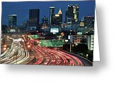Hustle And Bustle Of Atlanta Roadways Greeting Card
