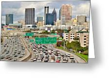 Hustle And Bustle On The Highways And Byways Greeting Card