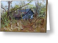 Hut In Woods Greeting Card