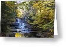 Huyck Preserve Falls Greeting Card