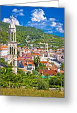 Hvar Architecture And Nature Vertical View Greeting Card