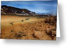 Hverir Geothermal Springs Greeting Card
