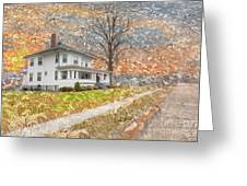 H.w Baker House Greeting Card
