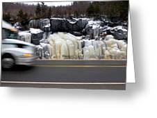 Hwy Ice   Greeting Card