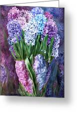 Hyacinth In Hyacinth Vase 1 Greeting Card