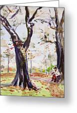 Hyde Park Autumn II Greeting Card