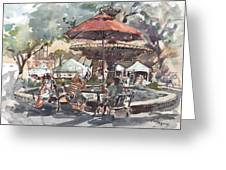 Hyde Park Market Plein Air Greeting Card