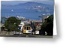 Hyde Street Cable Car 1978 Greeting Card