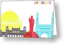 Hyderabad Skyline Pop Greeting Card