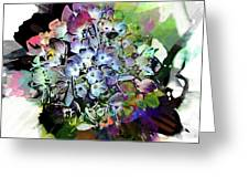 Hydrangea Abstract Greeting Card