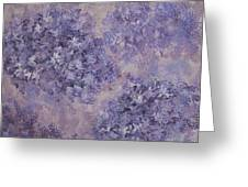 Hydrangea Blossom Abstract 2 Greeting Card